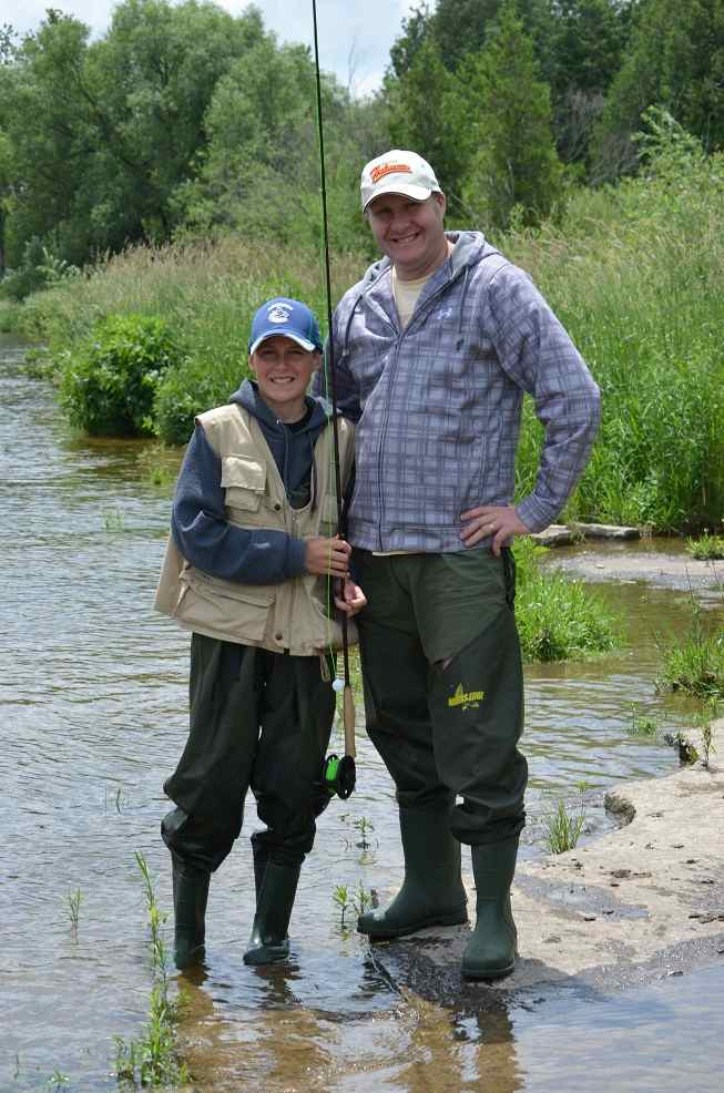 Fly fishing lessons instruction hook line and sinker for Father son fishing