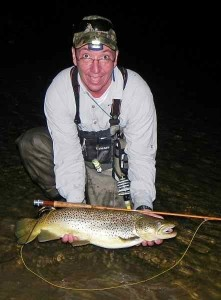 Night Time Grand River Brown Trout on a Bamboo Rod