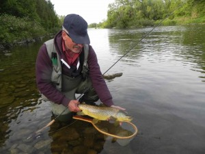Vince on the Grand River with a Beautiful Brown Trout