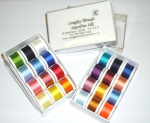Pearsall's Fly Tying Thread Colour Options.